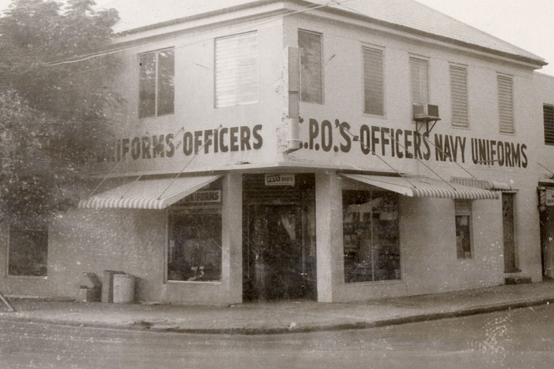 Pop's Navy Store sold men's clothing from 1952-1973.